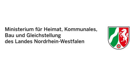 Logo NRW Ministerium für Heimat, Kommunales, Bau und Gleichstellung NRW